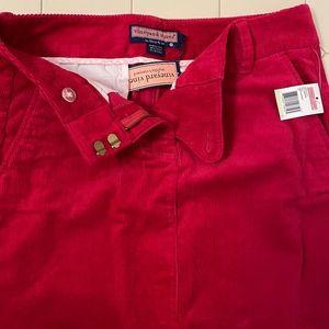 Vineyard Vines Red Corduroy Skirt